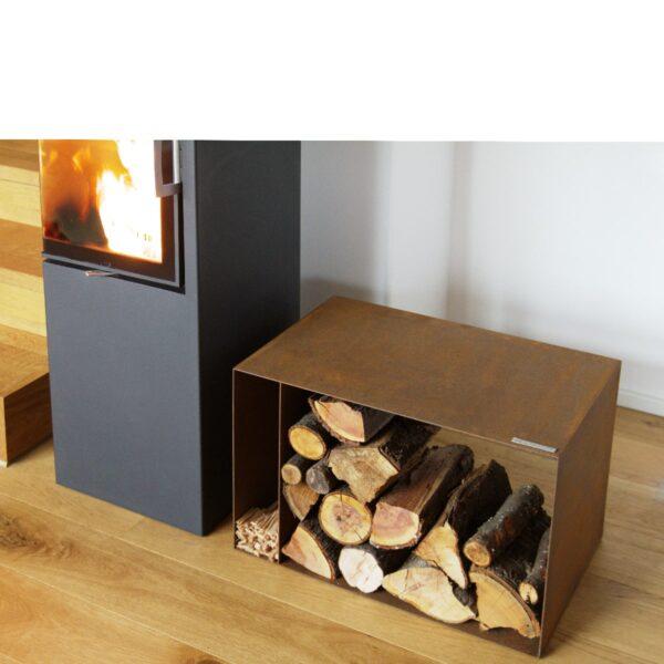 Corten Holzlege - Holzlager